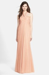 Women's Jenny Yoo 'Willow' Convertible Tulle Gown Cameo Pink