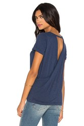 Chaser Cross Back Rolled Sleeve Tee Blue