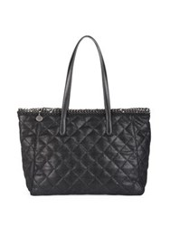 Stella Mccartney East West Quilted Faux Leather Tote Black