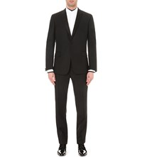 Kilgour Regular Fit Wool And Mohair Blend Evening Suit Black