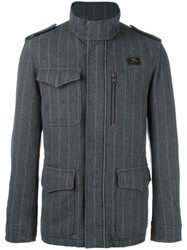 Fay Pinstriped Sport Jacket Grey