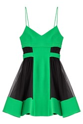 David Koma Dress With Tulle Green