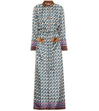 F.R.S For Restless Sleepers Fantaso Printed Silk Maxi Dress Multicoloured