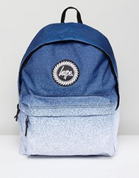 Hype Backpack In White Speckle Fade White