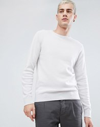 Selected Homme Crew Neck Knit Bright White Beige