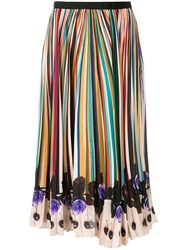 Paul Smith Black Label Striped Skirt Nude And Neutrals