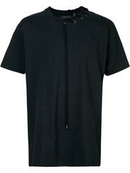 Craig Green Laced Short Sleeve T Shirt Black