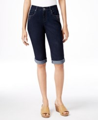 Styleandco. Style And Co. Petite Curvy Fit Bermuda Shorts Only At Macy's Rinse