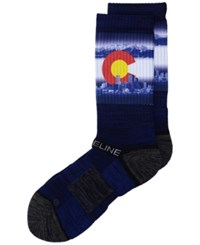 Strideline Denver City Socks Ii Blue Red