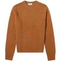Acne Studios Peele Cashmere Crew Knit Brown