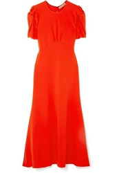 Maggie Marilyn Net Sustain It's Up To You Knotted Crepe Midi Dress Orange
