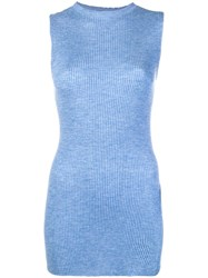 Cashmere In Love Ribbed Vest Blue
