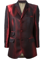 Jean Paul Gaultier Vintage Iridescent Effect Blazer Red
