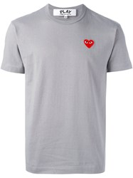 Comme Des Garcons Play Heart Patch T Shirt Grey