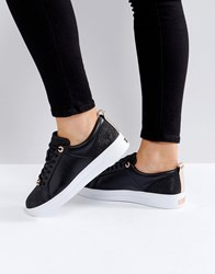 265d624c96a3e3 Ted Baker Kulei Black Sparkling Trainers