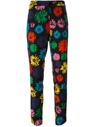 Moschino Daisy Print Trousers Multicolour
