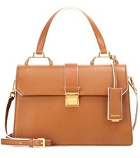Miu Miu Leather Satchel Brown