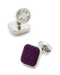 Thomas Pink Warren Woven Button Cufflinks