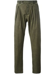 Al Duca D'aosta 1902 Pleated Yoke Trousers Green
