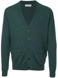 Gieves And Hawkes Classic Cardigan Green
