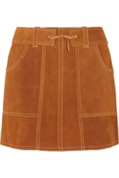 Anna Sui Belted Suede Mini Skirt