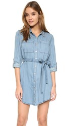 Minkpink In A Daze Shirtdress Indigo Blue
