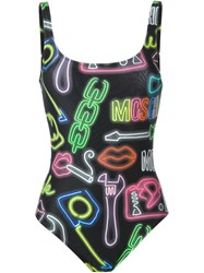 Moschino Neon Sign Swimsuit Multicolour