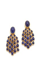 Aurelie Bidermann Wild West Clip On Lapis Lazuli Earrings Gold