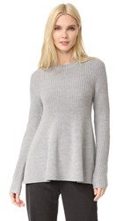 Grey Jason Wu Long Sleeve Flare Sweater Cinder