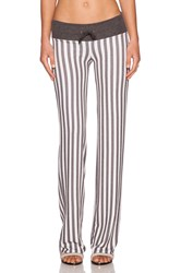 Wildfox Couture Fox Stripe Pant Gray