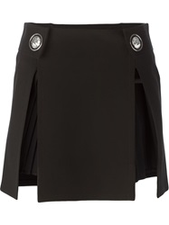 Versus Pleat Insert Mini Skirt Black