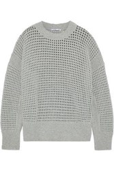 Agnona Open Knit Cashmere Sweater Gray