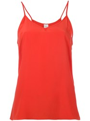 Paul Smith Strappy Top Women Silk Polyamide Acetate 44 Red