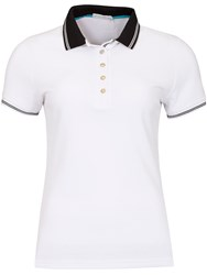 Green Lamb Claudine Club Polo Black White
