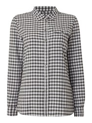 Barbour Charade Check Shirt Black White Black White