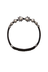 Lanvin Headband In Metallics Black