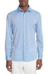 Eidos Napoli Jb Washed Stripe Sport Shirt Blue