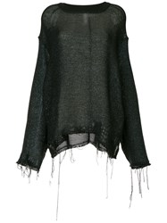 Song For The Mute Distressed Effect Sweater Black