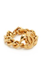 Wgaca Chanel Cc Curb Chain Bracelet Previously Owned Gold
