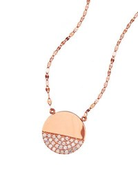 Lana Flawless Illusion Disc Pendant Necklace In 14K Rose Gold