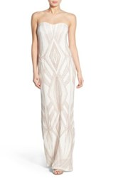 Jump Diamond Glitter Gown White