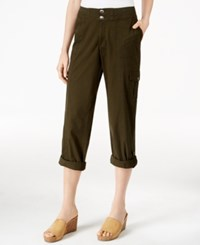 Styleandco. Style Co. Cargo Convertible Pants Only At Macy's Evening Olive