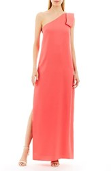 Nicole Miller New York Women's Asymmetrical A Line Gown