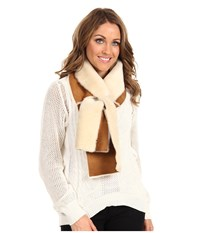 Ugg Classic Panel Scarf Chestnut Scarves Brown