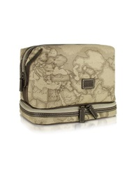 Alviero Martini 1A Prima Classe Turtle Dove Geo Printed Beauty Case Gray
