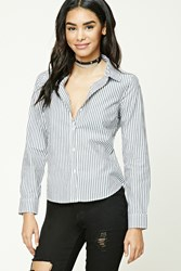 Forever 21 Striped Button Front Shirt