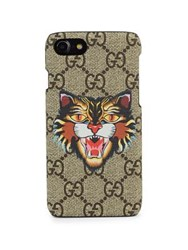 Gucci Gg Angry Cat Iphone 7 Case Beige Multicolor