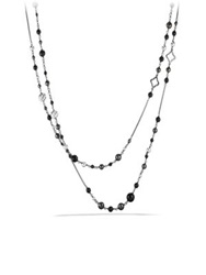 David Yurman Dy Elements Chain Necklace With Black Onyx And Hematine Multi