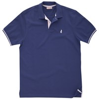 Thomas Pink Brandon Plain Polo Shirt Navy Pink