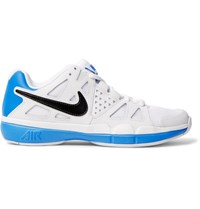 Nike Tennis Air Vapor Advantage Faux Leather And Mesh Sneakers White